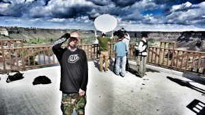 Interviews above the Snake River Canyon, Twin Falls, ID.