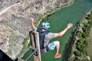 World's Highest Dunk Tank at the Perrine Bridge in Twin Falls, ID.