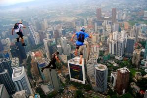 Running Superheros above KL, Malaysia.