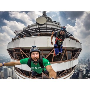Ian Flanders and Sean Chuma at the KL Tower in KL, Malaysia