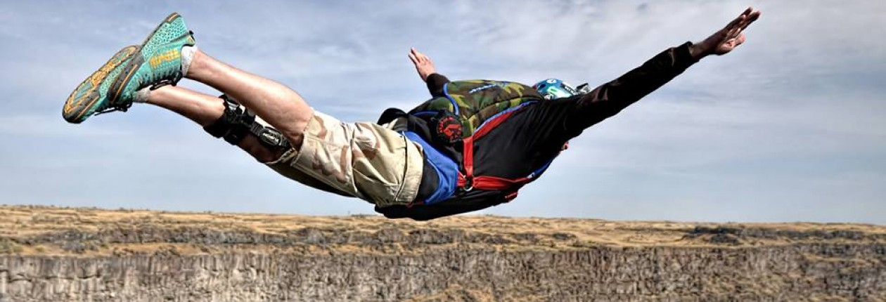 Professional Base Jumper: Twin Falls, ID: Base Jumping Instruction